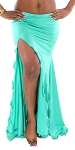 Mermaid Skirt with Slit - TURQUOISE GREEN