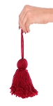 Wool Yarn Tassel - BURGUNDY