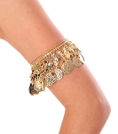Adjustable Egyptian Metal Coin Arm / Leg Band  - GOLD