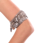 Adjustable Egyptian Metal Coin Arm / Leg Band  - SILVER