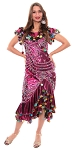 Egyptian Alexandrian Melaya Dress - FUCHSIA / MULTI