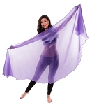 Organza Semi-Circle Egyptian Veil - PURPLE