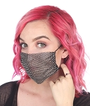 Rhinestone Bling Mesh Face Mask Cover