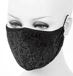 Burnout Velvet Face Mask in Black