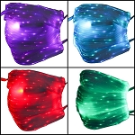 LED Face Mask (multicolor on white base)