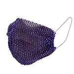 Rhinestone Bling Mesh Face Mask Cover - PURPLE