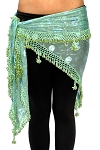 Egyptian Beaded Hip Scarf / Shawl - MINT