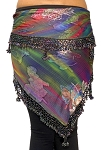 Egyptian Beaded Hip Scarf / Shawl - NEBULA
