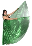 Egyptian Organza Isis Wings - EMERALD GREEN