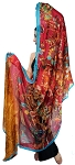 Printed Silk Veil for Belly Dance - JEWELS