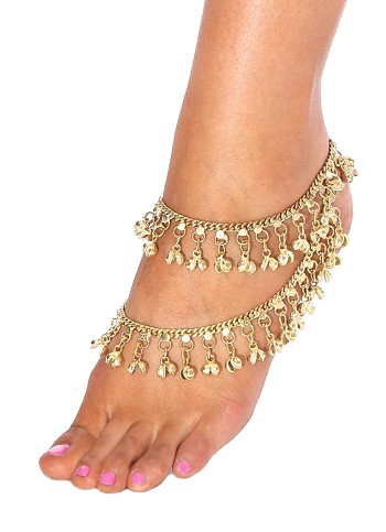 Bollywood Jingle Bell Anklet - GOLD