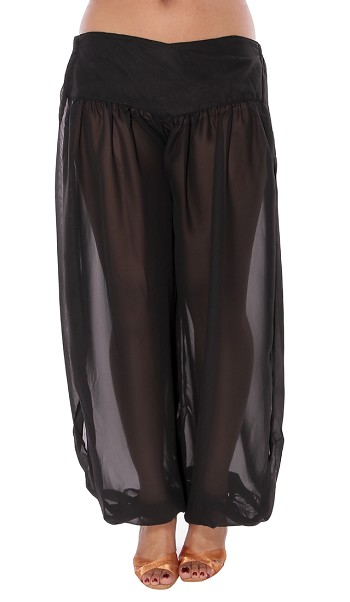 Belly Dancer Harem Pants - BLACK