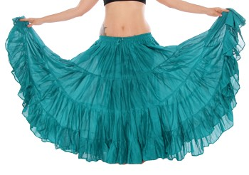 25 Yard Tribal Gypsy Skirt - TEAL