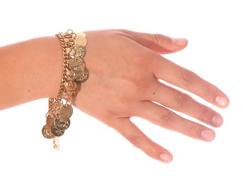 Classic Belly Dance Coin Bracelet - GOLD
