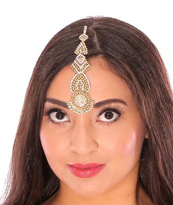 Extra Large Indian Bindi Headpiece - SILVER, GOLD, OR MULTI-COLORED