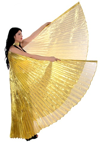 PETITE Isis Wings Belly Dance Costume Prop - GOLD