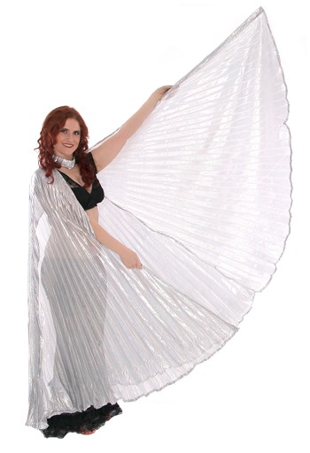 PETITE Isis Wings Belly Dance Costume Prop - SILVER