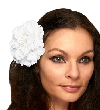 Hair Flower Costume Accessory - WHITE