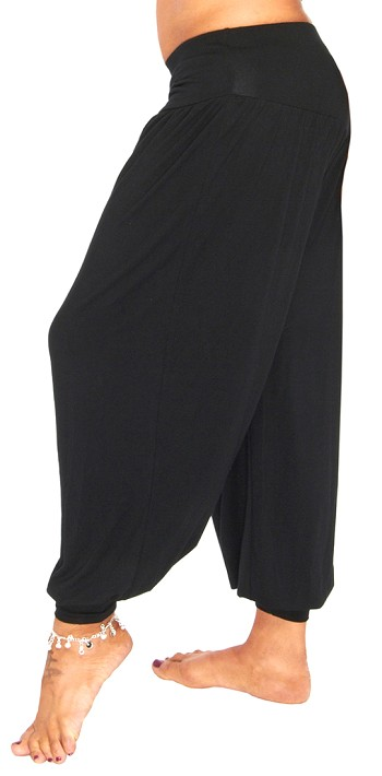 Comfy Stretch Harem Pants - BLACK