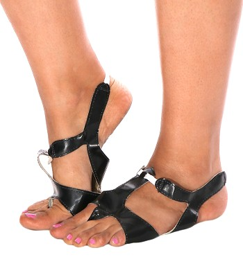 Leather Half-Shoe for Belly Dance (pair) - BLACK