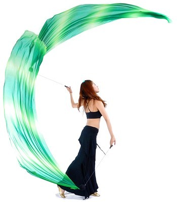 Poi Veils (Voi) Set - TROPICAL BREEZE