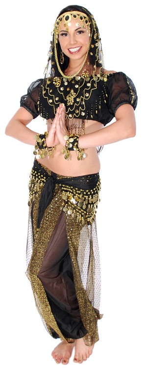 7-Piece Deluxe Arabian Nights Desert Princess Costume
