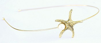 Sea Life Mermaid Headband with Pearl Accent - STARFISH