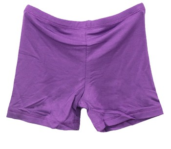 Kids Size Comfortable Stretchy Dance Shorts - PURPLE