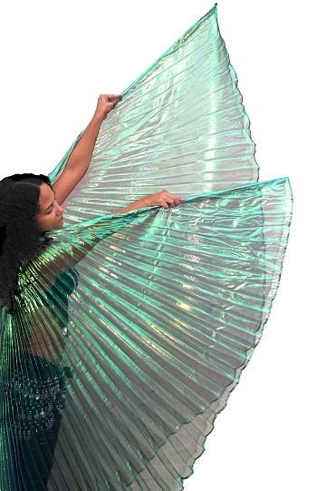 Isis Wings Belly Dance Costume Prop - GREEN OPAL