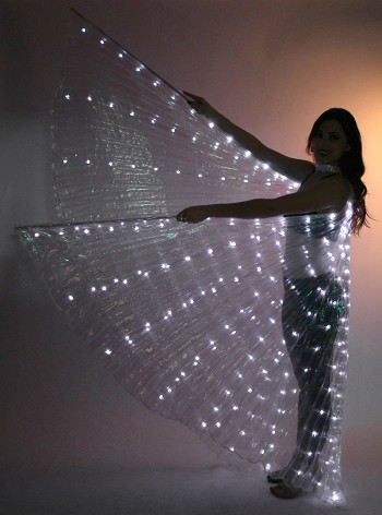 LED Isis Wings - WHITE / WHITE OPAL