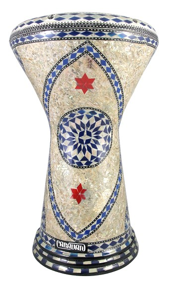 Doumbek/Darbuka (Egyptian Tabla) with Mother of Pearl Mosaic Inlays - AL DUNIA