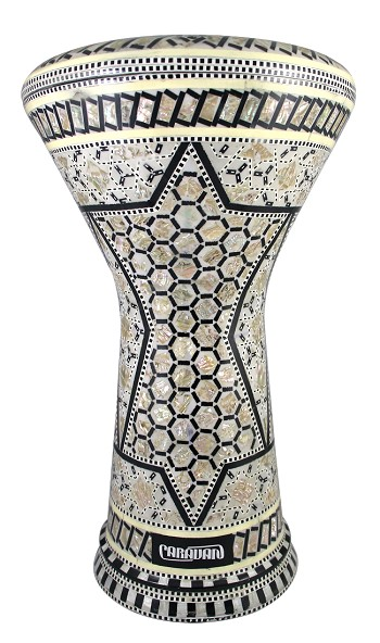 Pro Series Doumbek/Darbuka (Egyptian Tabla) with Mother of Pearl Mosaic Inlays - KHALIA