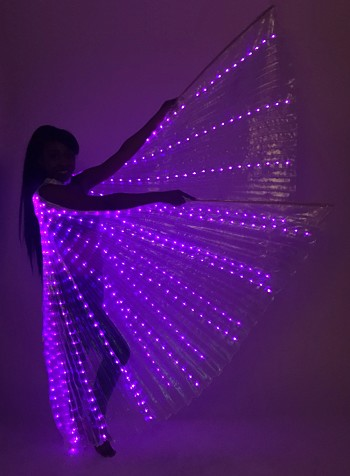 LED Isis Wings - PURPLE / WHITE OPAL