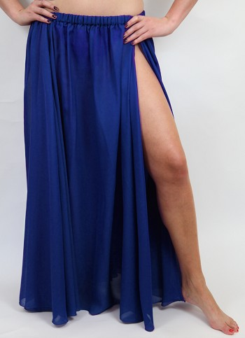 3 - Panel Chiffon Skirt - BLUE