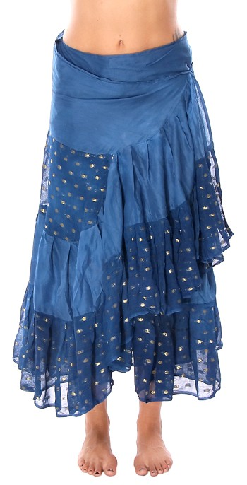 10 Yard Ashwarya Wrap Skirt - ROYAL BLUE