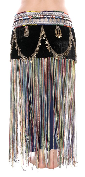 Afghani Tribal Belt with Kuchi Pendants, Coins, and Chain Drapes