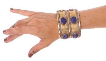 Afghani Tribal Cuff with Lapis