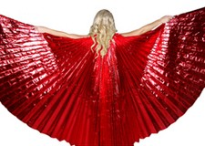 Closed Back Isis Wings Belly Dance Costume Prop - RED