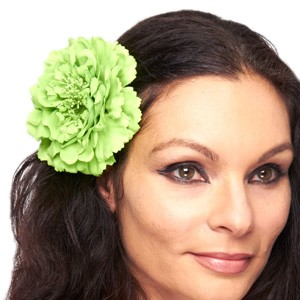 Hair Flower Costume Accessory - LIME GREEN