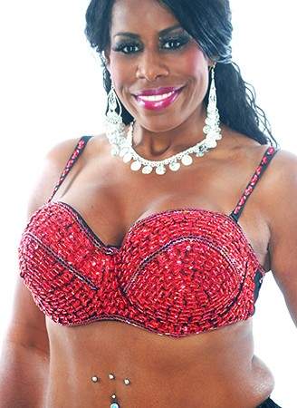 Plus Size Sequin Beaded Cabaret Bra - RED 36J / 38F