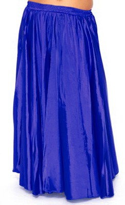 Satin Belly Dance Costume Skirt - ROYAL BLUE