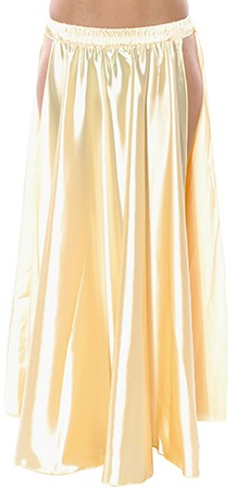 Satin Panel Circle Skirt for Belly Dancing - LIGHT GOLD