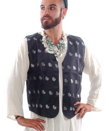 Men's Folk Belly Dance Vest - BLACK